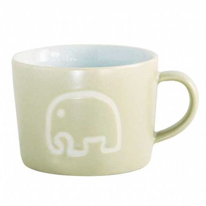 スパイス マグカップ プチママン 陶器 コップ 子供用 エレファント ベージュ 約口径8.5×幅(持ち手含)10.5×高さ6.5cm SFPY1404