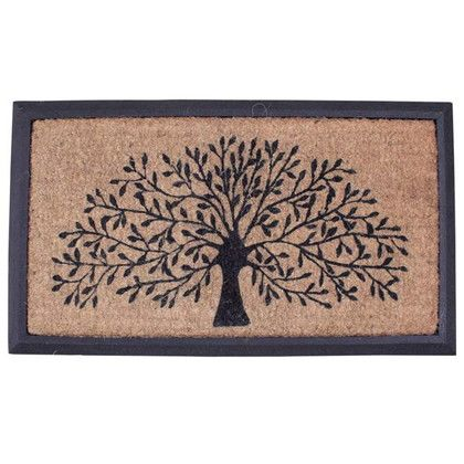 スパイス 玄関マット コイヤーマット RECT FRAME TREE ブラウン 約縦40×横70(cm) FBGY4090