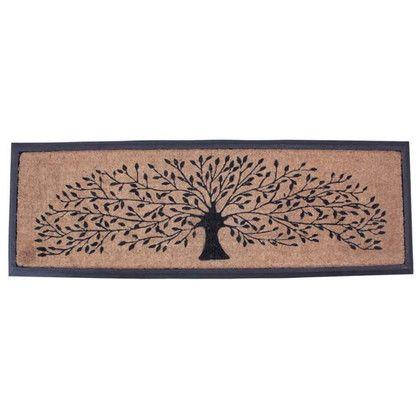 スパイス 玄関マット コイヤーマット LONG FRAME TREE ブラウン 約縦40×横120(cm) FBGY4100