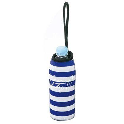 スパイス ボトルカバー 保冷 バカンス クーラーボトルホルダー ボーダー ブルー 約幅7×奥行8×高さ18.5(cm) SFVG1604