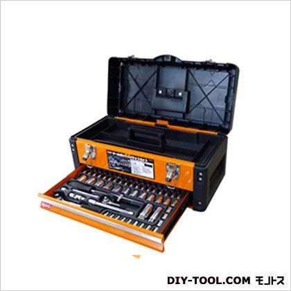 引き出し付ツールボックス ソケットセット 2段/工具箱   TSS-56