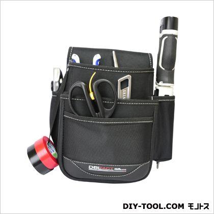 腰袋 ブラック 240×210×150mm (DT-27-BK)