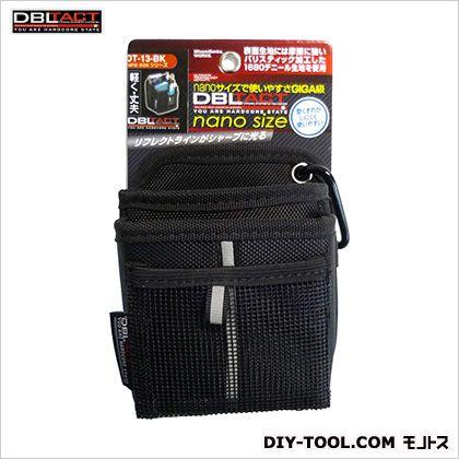 nano腰袋 ブラック H140×W115×D80mm DT-13-BK