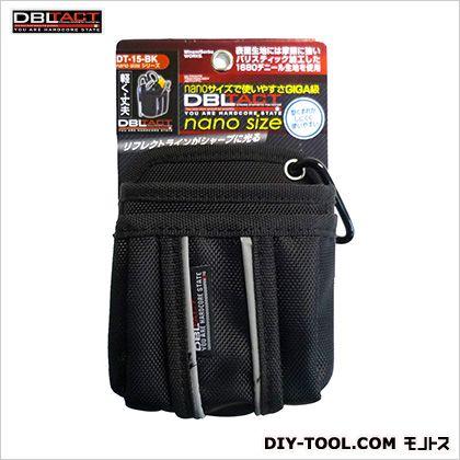 nano腰袋 ブラック H140×W115×D75mm DT-15-BK