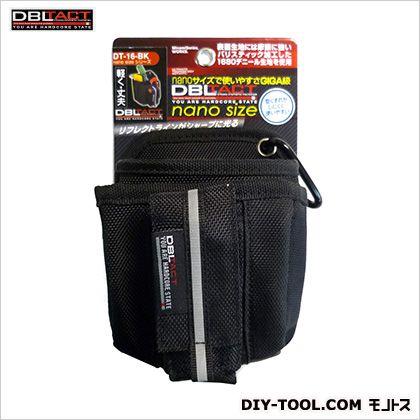 nano腰袋 ブラック H140×W115×D110mm DT-16-BK