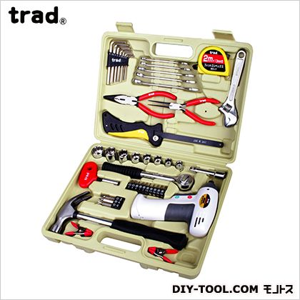 電池式ドライバー付 家庭用工具セット   TS-47D
