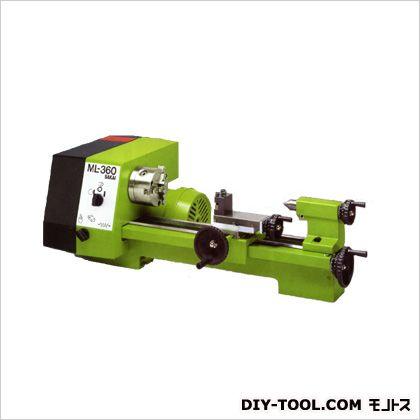 """卓上小型旋盤 (3""""チャック、自動送りネジ切装置、テーパー削り、ツールポスト、固定センター付) (ML-360)"""