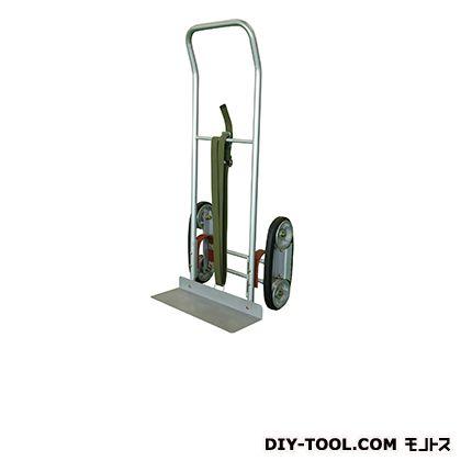 2輪運搬台車 (スチール製、ゴムローラー式階段昇降タイプ)  荷台サイズ:520×180mm HT-CU-1