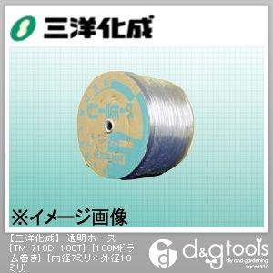 透明ホース(ドラム巻) 7mm×10mm×100Mドラム巻 (TM-710D 100T)
