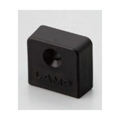棚柱用エンドキャップ SPHL-23E型 ステンレス鋼製棚柱 SPHL-1820用 ブラック (SPHL-23E-BL)