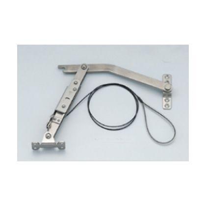 ステンレス鋼製ロック付重量扉用ステーYA-2020W型ワイヤー付   YA-2020WL