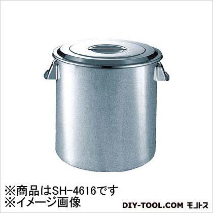 ステンレスキッチンポット蓋付 手ナシ 160×160 3.2L (SH4616) 1個