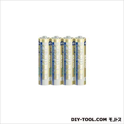 サンヨー アルカリ乾電池(単4形4本パック)   LR03D4S