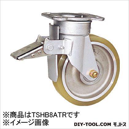 リボキャスターブレーキ付 ウレタン車輪 Φ200 (×1個)   TSHB8ATR