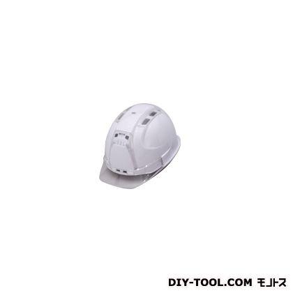 ヘルメット ヒサシ付 クリア ホワイト (390F-OTCC)
