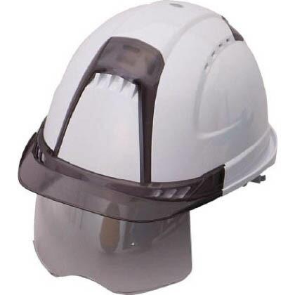 シールドレンズ付きヘルメット (スチロールライナー入り) ヴェンティー・プラス 帽体色:白 (391F-S-C)