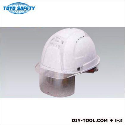 シールドレンズ付きヘルメット (スチロールライナー入り) 帽体色:白  391F-C-C