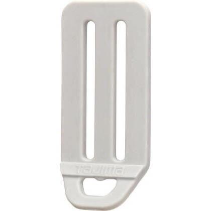 安全帯 L型D環止め(樹脂2穴) シルバー 縦×横(mm):84×40 (TA-LPD2SI)