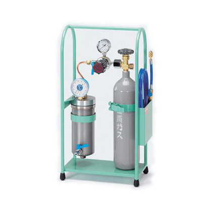 N・(チッソ)加圧式冷凍サイクル洗浄キット  幅×奥行×高さ:300×175×580mm TA353KT