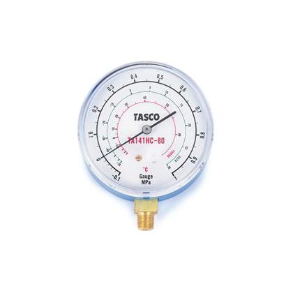 タスコ HC冷媒用圧力計(R600a、R290)  幅:80mm TA141HC-80