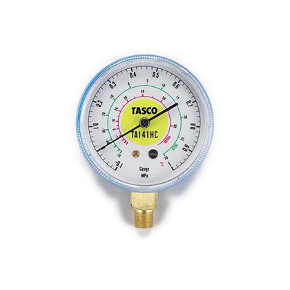 タスコ HC冷媒用圧力計(R600a、R290)  幅:68mm TA141HC