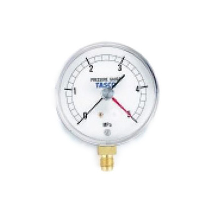 フレアタイプ気密試験用 75φ 圧力計(5.0MPa設置針式)   TA148AF-250