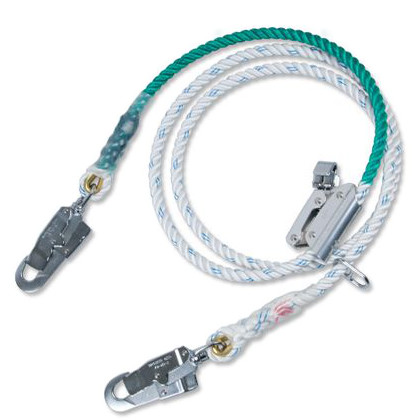 補助フック付きロープ ●ランヤード:直径16mm×標準長さ3300mm (TE-527-BX)