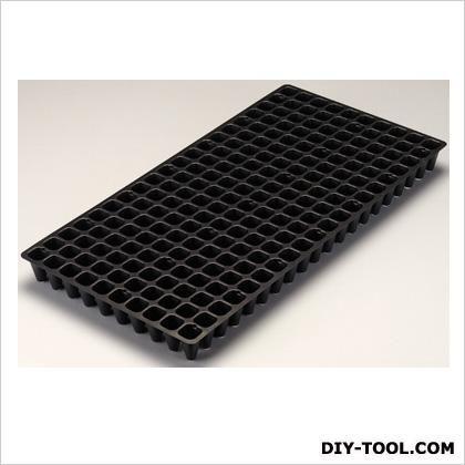 プラグトレイ200穴 機械用 黒 300×590×45