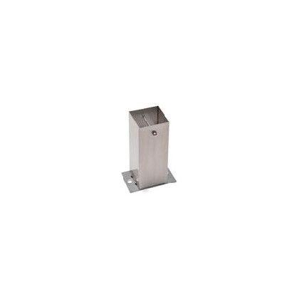 ステンレス装飾柱脚金物Sタイプ 100角型  全高240柱受高80 AD4102S0 1 本