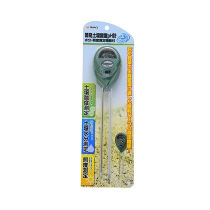 TAKAGI 簡易土壌酸度pH計 水分・土壌測定機能付  H335×W105×D40(mm)