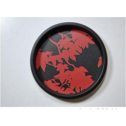 谷元フスマ工飾 華引手(ふすまの引手) 枝紅葉、黒枠 大 l_img_k_02_26
