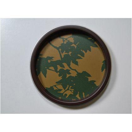 谷元フスマ工飾 華引手(ふすまの引手) 枝紅葉、茶枠 中 s_img_k_03_26