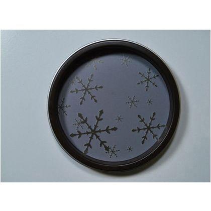 華引手(ふすまの引手) 雪、茶枠 中 s_img_k_03_31