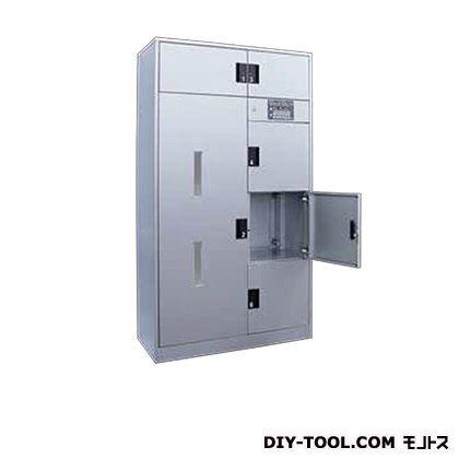 片面式宅配ボックス 2列6ボックス 受領印付 シルバー (TR-120)