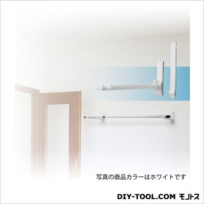 ランドリーフック 壁面用タイプ(見付けタイプ) ホワイト 最大出幅345.5mm KF30[W] 1 組