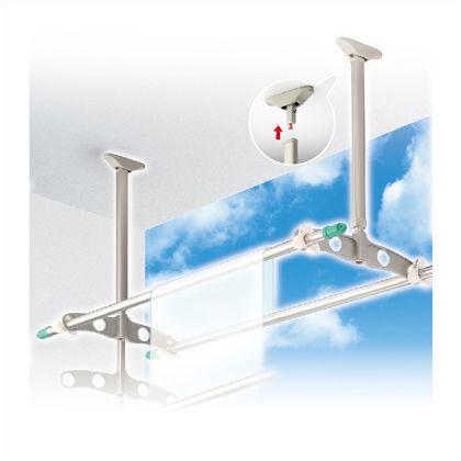 吊下げ型可動式物干金物 標準タイプ ステンカラー 600~900mm×450mm TC6090[ST] 1 組