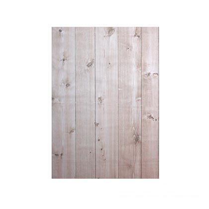 壁紙(クロス)の上から簡単に貼れる壁紙シール ホワイトウッド W46.5×H250cm KABE-02