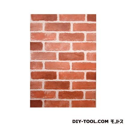 KABEDECO 壁紙(クロス)の上から簡単に貼れる壁紙シール ブラウンレンガ W46.5×H250cm KABE-06