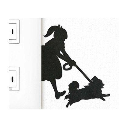 ウォールステッカー パピヨン こっちこっち DOG LIFE ウォールストーリー (228264)