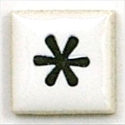 モザイクタイルT-コレットアスタリスク  約15×15×4mm 15K-*