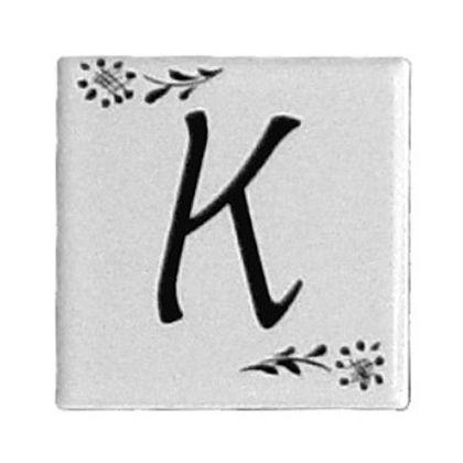 プチデザインタイルアルファベットタイルK  約47×47×7mm PDT-K