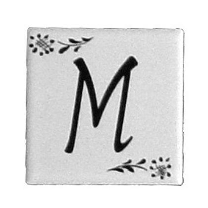 プチデザインタイルアルファベットタイルM  約47×47×7mm PDT-M