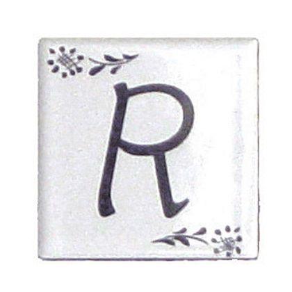 プチデザインタイルアルファベットタイルR  約47×47×7mm PDT-R