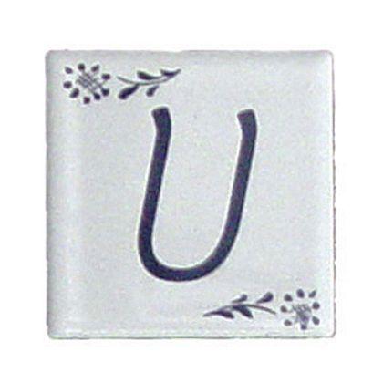 プチデザインタイルアルファベットタイルU  約47×47×7mm PDT-U