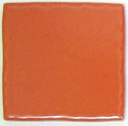 玉川窯業 色つき無地プレインタイル ピンク 約97×97×7mm PT-006