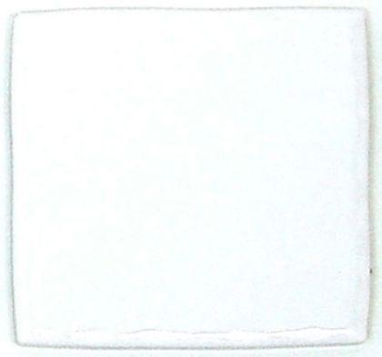 色つき無地プレインタイル ホワイト 約97×97×7mm PT-011