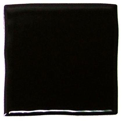 色つき無地プレインタイル ブラック 約97×97×7mm PT-012