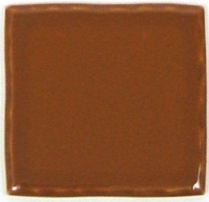玉川窯業 色つき無地プレインタイル セピア 約97×97×7mm PT-016