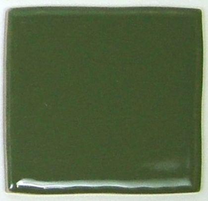 玉川窯業 色つき無地プレインタイル ダークグリーン 約97×97×7mm PT-018