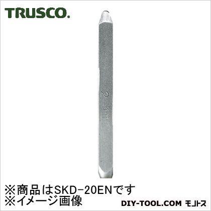 トラスコ バラ刻印N(アルファベット)  2mm SKD20EN